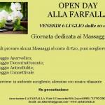 Open Day Massaggi Venerdi 6/7 e 13/7 dalle 10 alle 16