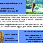 Gruppo di BIOENERGETICA inizio  Lunedi 10/12 ore 21