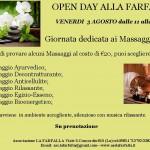 Open Day Massaggi Venerdi 3/8  dalle 11 alle 18.30