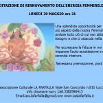 Meditazione di Rinnovamento dell'Energia Femminile lunedi 20/5 ore 21